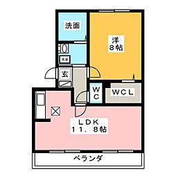 エクレール新栄B棟[1階]の間取り