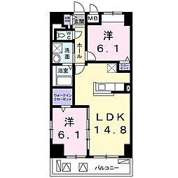 畑田町店舗付マンション[0610号室]の間取り