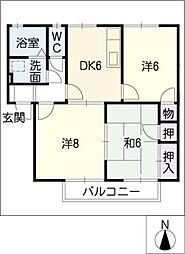 ハートピア[1階]の間取り