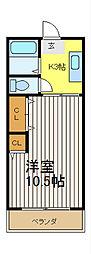 クローバーハウスC[1階]の間取り