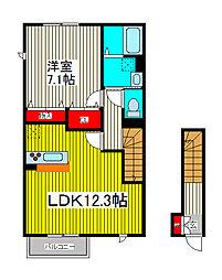 Lucente[2階]の間取り