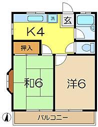 ハイツ356第5[2階]の間取り