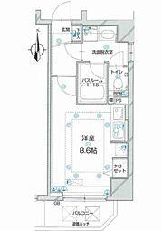 シャルムコート新宿ステーションパレス[404号室]の間取り