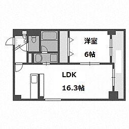 北海道札幌市白石区東札幌二条5丁目の賃貸マンションの間取り