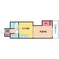 新大阪グランドハイツ北[3階]の間取り
