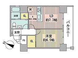 TEADA北4条[8階]の間取り