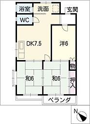 寿第三ビル[1階]の間取り