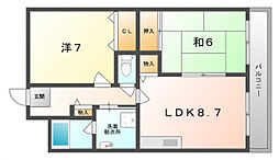 コスモガーデン[5階]の間取り