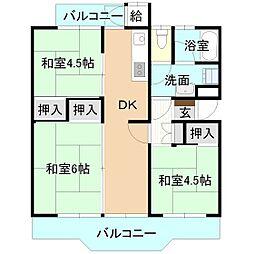 戸頭マンション[3階]の間取り