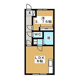 サルビア館[2階]の間取り