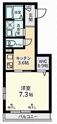 東京都調布市国領町1丁目の賃貸マンションの間取り