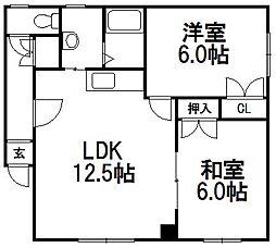 高橋マンション[201号室]の間取り