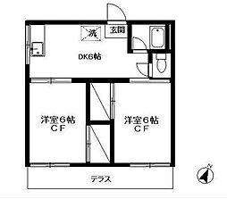 京屋 誠コーポA[1階]の間取り