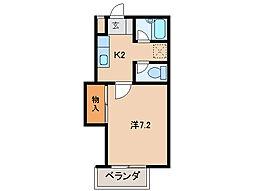 グリーンフル森田[2階]の間取り