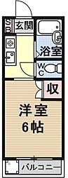 サンシーガル2[102号室号室]の間取り