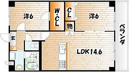 Merveille Ishida[5階]の間取り