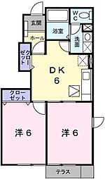 埼玉県川口市大字安行領家の賃貸アパートの間取り