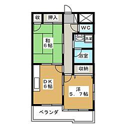 ドミール海道町[9階]の間取り