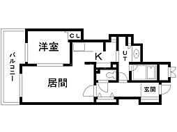 リビオ札幌時計台通り 5階1LDKの間取り
