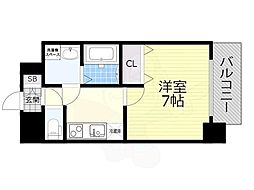 名古屋市営鶴舞線 大須観音駅 徒歩7分の賃貸マンション 2階1Kの間取り