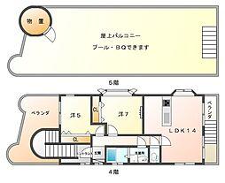 LuLu EAST[4階]の間取り