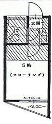 神奈川県相模原市南区上鶴間4丁目の賃貸アパートの間取り