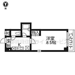 クオーレ京都[502号室]の間取り