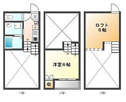 クワンベール[1階]の間取り