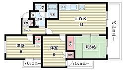 エスコート本田[303号室]の間取り