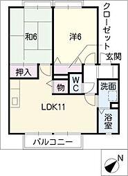 グランシャリオ A棟[2階]の間取り