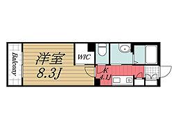 JR内房線 八幡宿駅 徒歩6分の賃貸マンション 2階1Kの間取り
