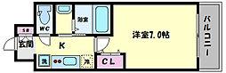 TOYOTOMI STAY PREMIUM ABENO天王寺(トヨトミステイプレミアムア 13階1Kの間取り