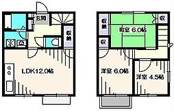 [テラスハウス] 東京都西東京市保谷町1丁目 の賃貸【東京都 / 西東京市】の間取り