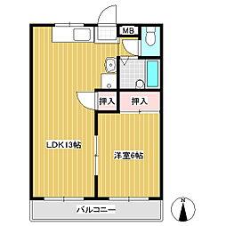 ツインパレスKOIZUMI E棟[2階]の間取り