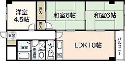 広島県広島市佐伯区八幡2丁目の賃貸マンションの間取り