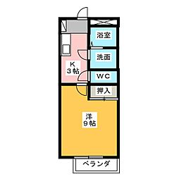ハイツエム[2階]の間取り
