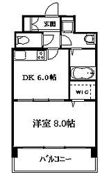 サンセジュール[6階]の間取り