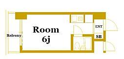 ライオンズマンションヨコハマ戸部[3階]の間取り