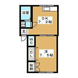 KランドA[2階]の間取り