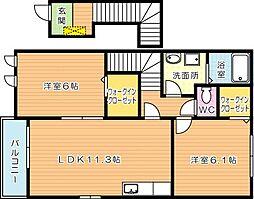 エテルノハピネス A棟[2階]の間取り
