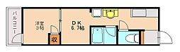 アフロディーテ別府[1階]の間取り