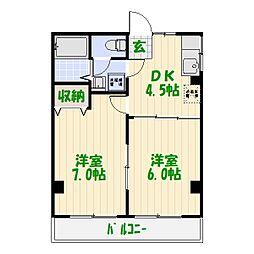 メゾン・ド・ドルチェ[3階]の間取り