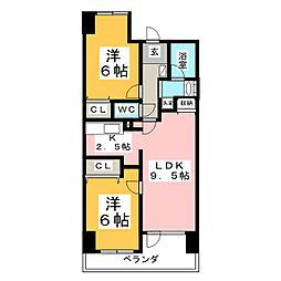 ノア本屋敷[2階]の間取り