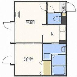 コンパートメントハウス北34条[2階]の間取り