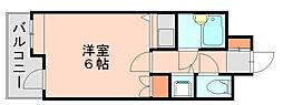 朝日プラザ博多7[3階]の間取り