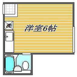 東京都板橋区志村3丁目の賃貸アパートの間取り