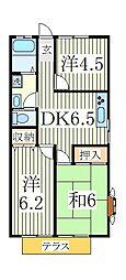 MKルーミー[1階]の間取り