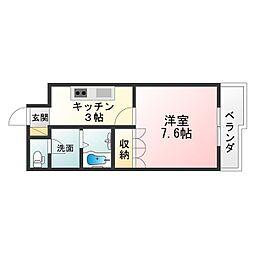 滋賀県湖南市三雲の賃貸アパートの間取り