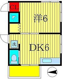 第1五十嵐荘[2階]の間取り