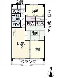 MIサンコート[3階]の間取り